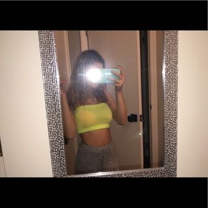 Size small neon yellow tube top